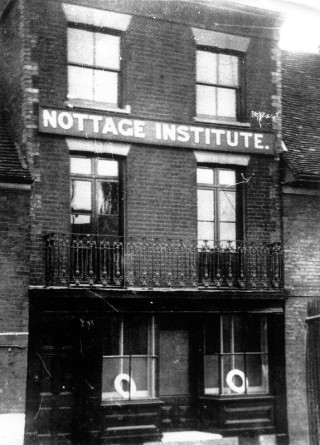 The Nottage Institute was first opened in a building adjacent to The Black Buoy pub before moving to The Quay | Photo Wivenhoe Memories Collection