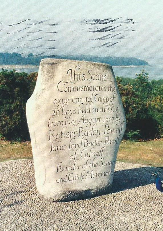 Commemoration Stone at Brownsea Island, Poole Harbour, Hants