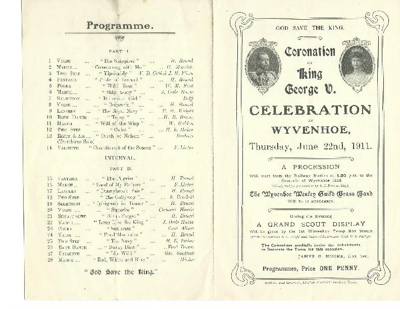 Coronation Celebration 1911 [Outside pages]