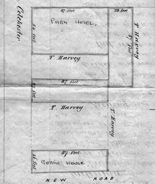 The map which was attached to the will of Thomas Eade in 1879 | Wivenhoe Memories
