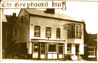 Post Card of the Greyhound PH in Wivenhoe High Street | Wivenhoe Memories Collection