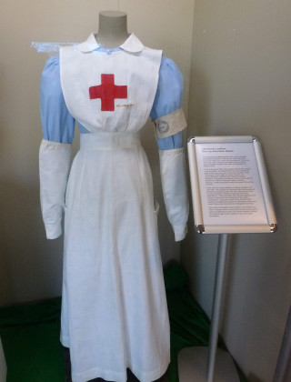 WW1 nurse's uniform from the Voluntary Aid Detachment (VAD) from a display at the Essex Regiment Museum, Chelmsford | Photo: Peter Hill
