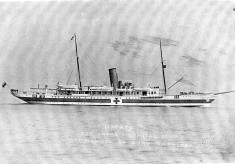The steam yacht Liberty as a Hospital ship