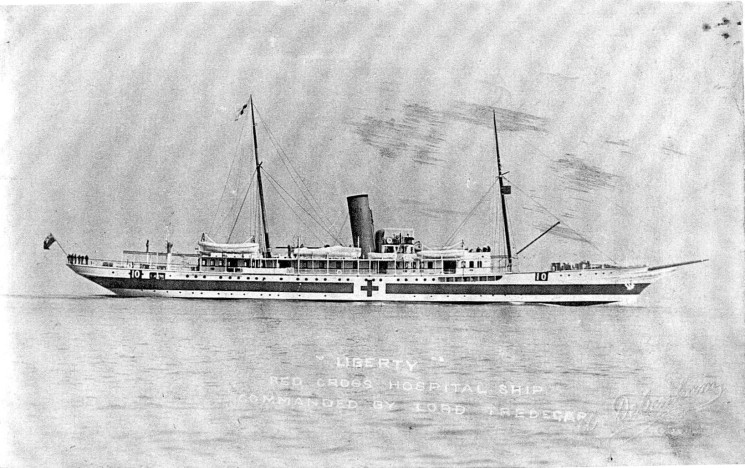 As a Royal Navy Hospital ship, the Liberty served at Gallipoli. | Nottage Maritime Institute 00718