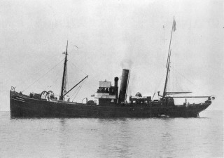 William Fall the first of sixteen minesweeping trawlers built for the Royal Navy in 1918 and1919.   Nottage Maritime Institute 02380..18
