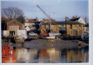 Guy Harding's Colne Marine & Yacht Co. Ltd yard on the Quay.    Nottage Maritime Institute 04281