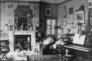 Wivenhoe Hall drawing room. luckily there were people to do the dusting.   Nottage Maritime Institute 04329.51f
