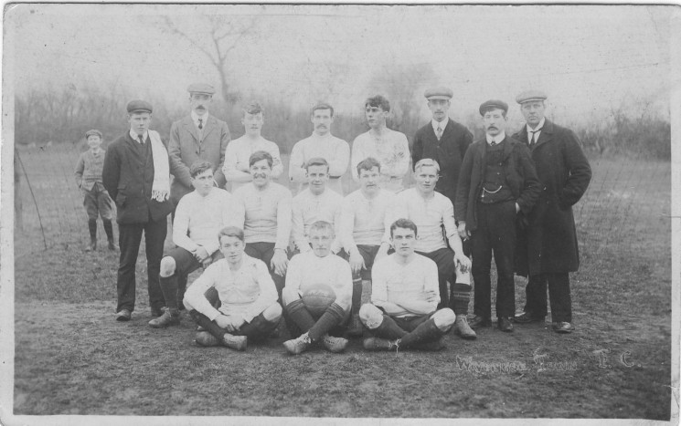A Wivenhoe Football Club thought to be from 1907.  Can anybody name them?? | John Stewart N.M.I 04544