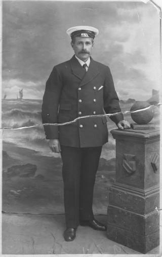 Arthur Shead in his boatswain's uniform.