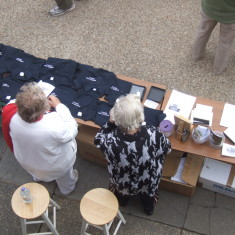 Stall on Quay outside the Nottage - 2011 | Photo: Mike Downes