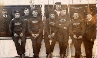 Arthur Shead on board the Sea Maid (front row 1st from the left) | Nottage Maritime Institute
