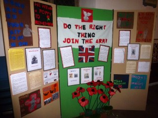 Broomgrove Junior School's WW1 display panel | Photo: Peter Hill