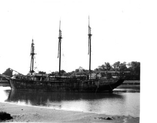 Adrian Seligman's barquentine Cap Pilar laid up at Wivenhoe