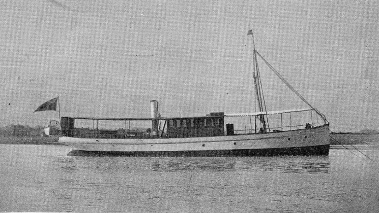 The lake steamer Cecil Rhodes built by Forrestt & Sons in 1898 and launched November 1899 | Nottage Maritime Institute 01064