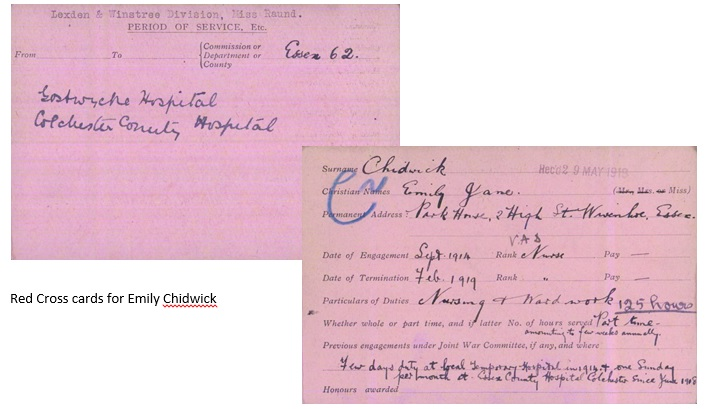 About Emily Jane Chidwick | Permission granted for use of the Record Cards by the British Red Cross Society