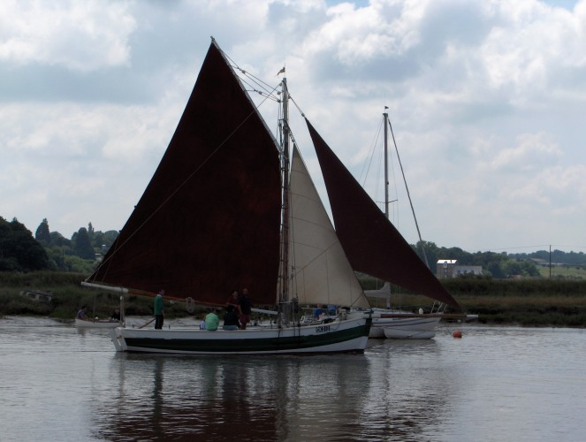 Built at Maldon in 1808, the Boadicea is the oldest seaworthy vessel on the British Register.  Here completing the 2005 Wivenhoe Regatta Smack Race. | John Collins
