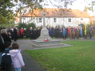 The crowds around the War Memorial for the annual Service of Remembrance. | Peter Hill