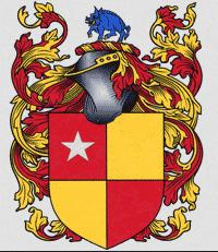 The coat of arms of John de Vere of Wivenhoe
