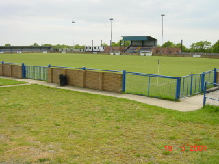 Broad Lane Sports Ground - view across the pitch to the Main Stand