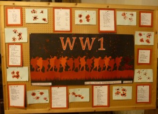 Millfields Primary School - WW1 Display panel | Photo: Peter Hill