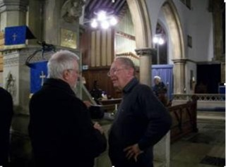 Paul Brown talking to Mark Norrington after his talk