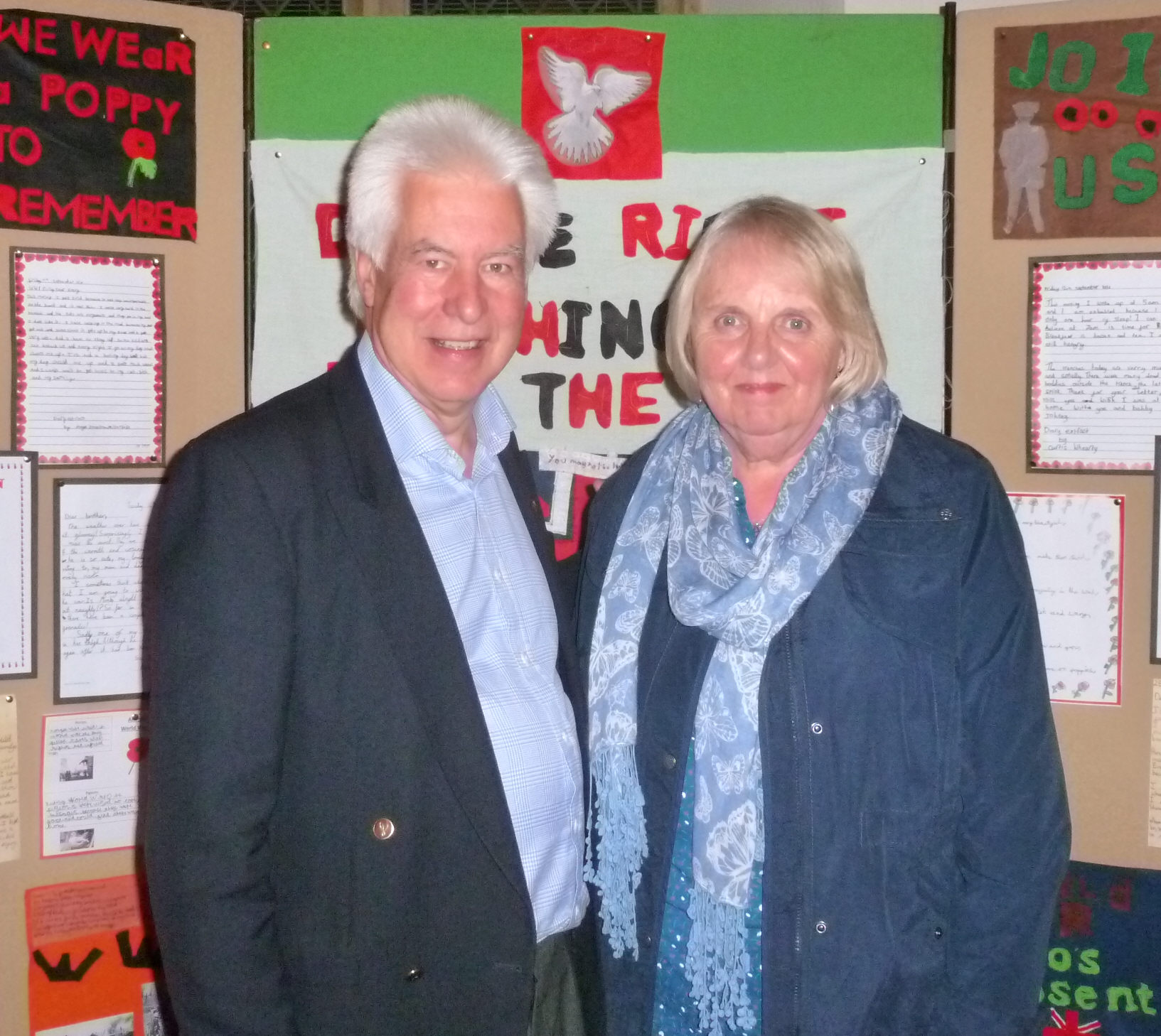 Peter Hill, Chairman of the Wivenhoe History Group with Gill Strudwick who has been leading the WW1 project, working with the Wivenhoe Schools and led on the HLF grant