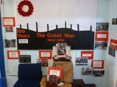 The display created at Broomgrove Infants School for WW1