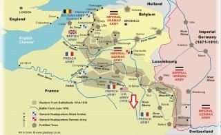 Location of the Arc en Barrois Auxillary Hospital