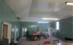 Inside the Hall prior to its demolition in 2014