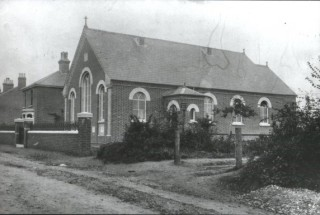 The later church, built in 1901