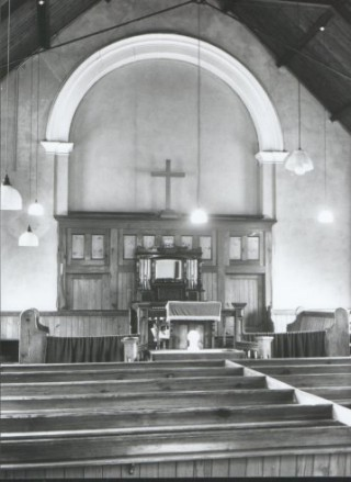 Interior of the Church, probably around 1966, well before the alterations were completed in 1971.
