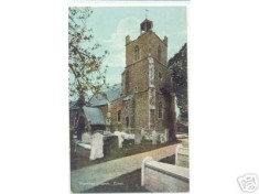 St Mary's Church and Churchyard after the 1884 Earthquake (from a postcard)