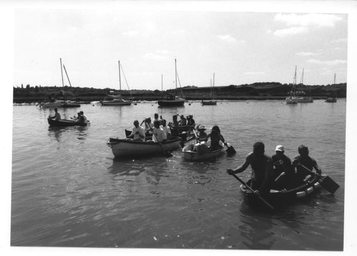 The start of the Shovel Race. | Jan Ward (via Nottage Maritime Institute)