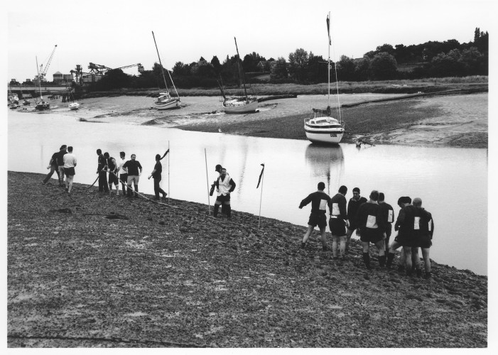 Competitors for the Tug-of-War take up their positions. | Jan Ward (Nottage Maritime Institute)