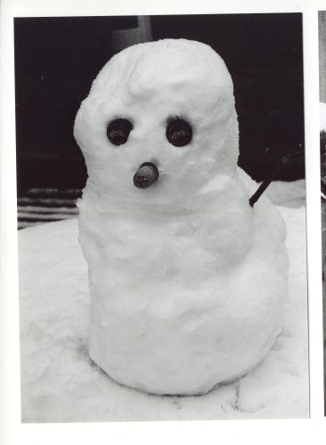Easter Snowman. | Jan Ward (Nottage Maritime Institute)