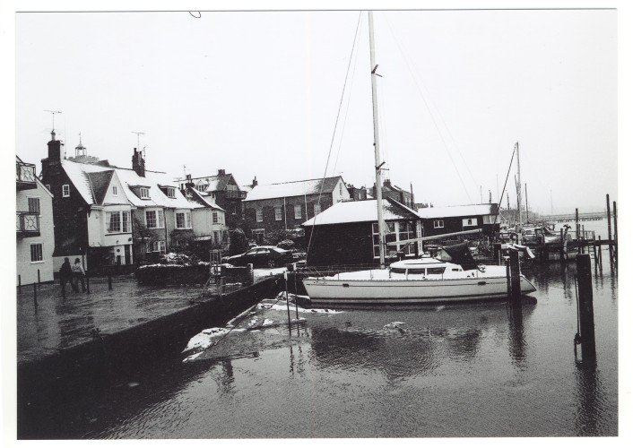 A desolate looking Quay, not time to get fitted out yet. | Jan Ward (Nottage Maritime Institute)