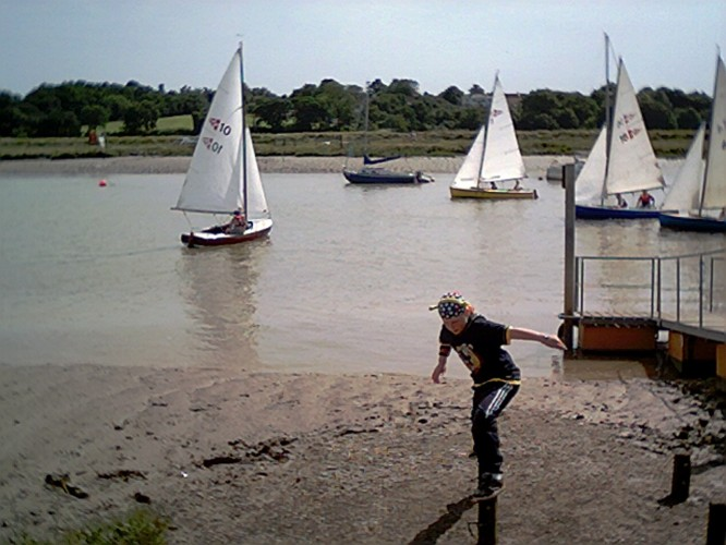 Wivenhoe One Design dinghies racing. | John Collins