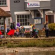Crabbing on Wivenhoe Quay 2014