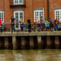 Crabbing on Wivenhoe Quay 2014 | Photo by Ivan Beales
