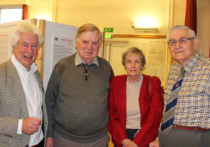 Member of Husk's Shipyard family visits the Wivenhoe Memories Exhibition - April 2015