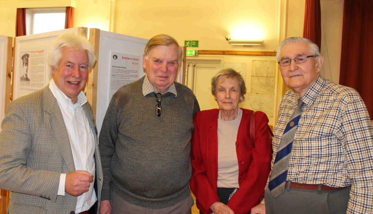 Chairman of the Wivenhoe History Group, Peter Hill (left), with Richard (Dick) and Anne Husk, with local resident, Peter Green (right).  | Photo: Christian Hill