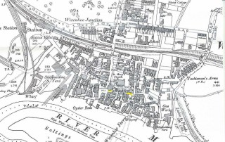 East Street (highlighted in yellow) in 1897