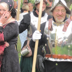 The two pikemen of the Colchester Town Watch.   John Collins