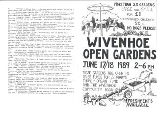 Open Gardens Programme 1989