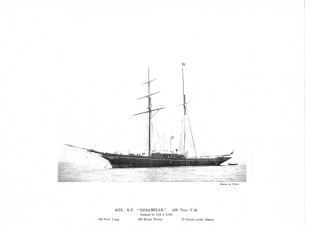 The steam yacht Rosabelle from Cox & King's brochure. | Notage Maritime Institute 04124..15