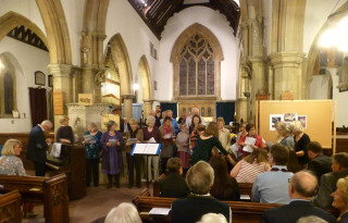 St Mary's Singers and Choir performing a tribute to Graham, their choirmaster | Photo by Peter Hill