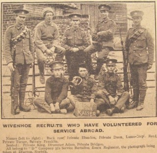 Wivenhoe recruits for WW1 | Wivenhoe Memories Collection