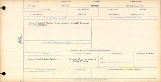 The casualty report recording the death of Fred Nicholls as a result of wounds on 28th September 1918  | Copy of certificate supplied by Mary Norris