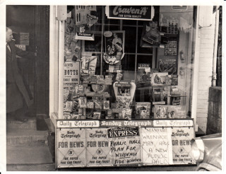 Jack Barrell at his papershop in the High Street where it still is. | John Stewart