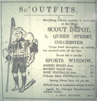 Scout Depot, Queen Street Advertisement, November 1911